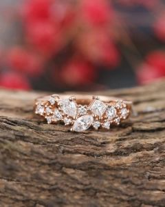 حلقه نامزدی خوشه الماس